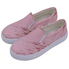 Luxurious Pink Marble 3 Kids  Canvas Slip Ons by tarastyle
