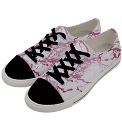 Luxurious Pink Marble 4 Men s Low Top Canvas Sneakers by tarastyle
