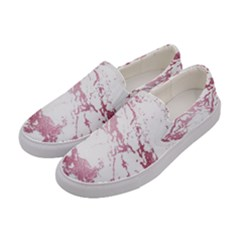 Luxurious Pink Marble 4 Women s Canvas Slip Ons by tarastyle