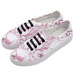 Luxurious Pink Marble 4 Women s Classic Low Top Sneakers by tarastyle