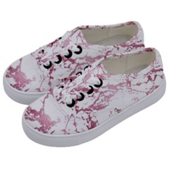 Luxurious Pink Marble 4 Kids  Classic Low Top Sneakers by tarastyle