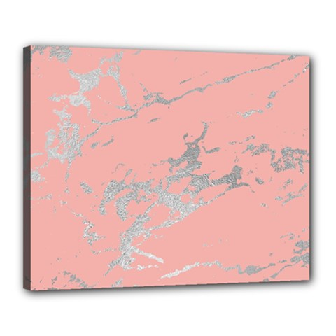 Luxurious Pink Marble 6 Canvas 20  X 16  by tarastyle
