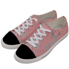Luxurious Pink Marble 6 Women s Low Top Canvas Sneakers by tarastyle