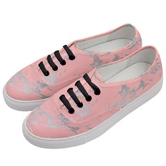 Luxurious Pink Marble 6 Women s Classic Low Top Sneakers by tarastyle