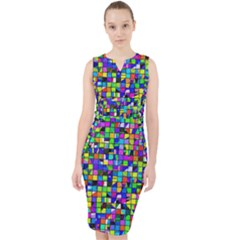 Colorful Squares Pattern                               Midi Bodycon Dress