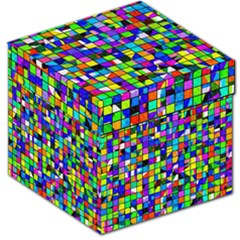 Colorful Squares Pattern                             Storage Stool by LalyLauraFLM