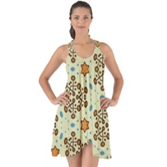 Stars And Other Shapes Pattern                                  Show Some Back Chiffon Dress by LalyLauraFLM