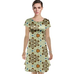 Stars And Other Shapes Pattern                               Cap Sleeve Nightdress