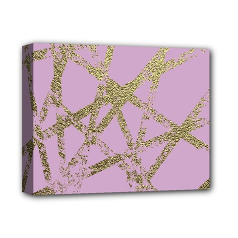 Modern,abstract,hand Painted, Gold Lines, Pink,decorative,contemporary,pattern,elegant,beautiful Deluxe Canvas 14  X 11  by 8fugoso