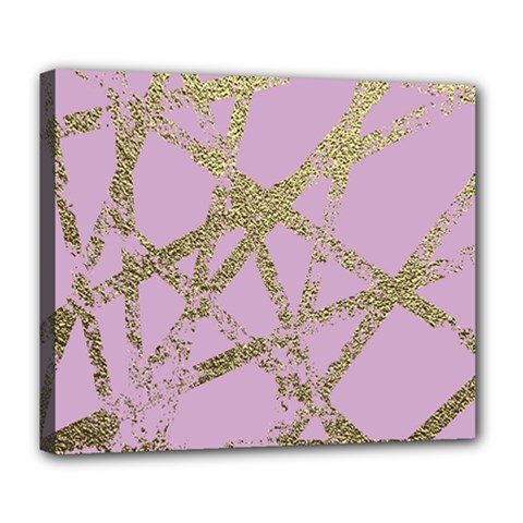 Modern,abstract,hand Painted, Gold Lines, Pink,decorative,contemporary,pattern,elegant,beautiful Deluxe Canvas 24  X 20   by 8fugoso