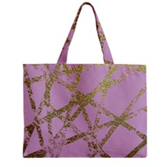 Modern,abstract,hand Painted, Gold Lines, Pink,decorative,contemporary,pattern,elegant,beautiful Zipper Mini Tote Bag