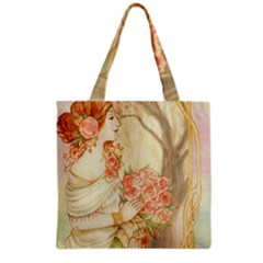 Beautiful Art Nouveau Lady Grocery Tote Bag by 8fugoso