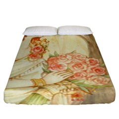 Beautiful Art Nouveau Lady Fitted Sheet (king Size)