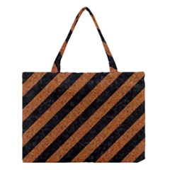 Stripes3 Black Marble & Rusted Metal (r) Medium Tote Bag by trendistuff