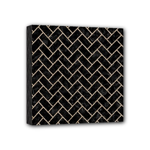 Brick2 Black Marble & Sand (r) Mini Canvas 4  X 4  by trendistuff