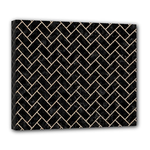 Brick2 Black Marble & Sand (r) Deluxe Canvas 24  X 20   by trendistuff