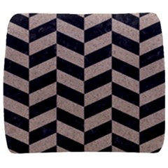 Chevron1 Black Marble & Sand Back Support Cushion by trendistuff