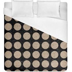 Circles1 Black Marble & Sand (r) Duvet Cover (king Size)