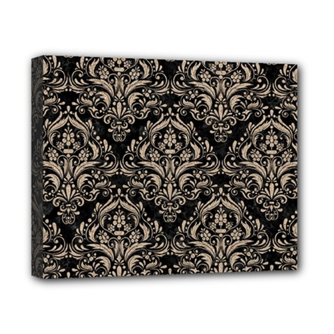 Damask1 Black Marble & Sand (r) Canvas 10  X 8  by trendistuff