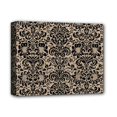 Damask2 Black Marble & Sand Deluxe Canvas 14  X 11  by trendistuff
