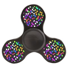 Colorful Rectangles On A Black Background                           Finger Spinner by LalyLauraFLM