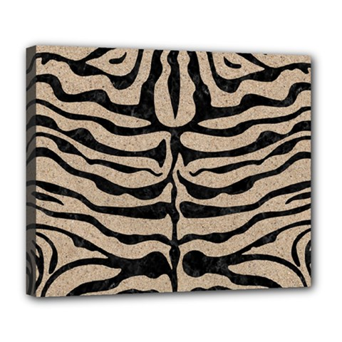 Skin2 Black Marble & Sand Deluxe Canvas 24  X 20   by trendistuff