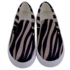 Skin3 Black Marble & Sand (r) Kids  Canvas Slip Ons