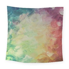Painted Canvas                                Square Tapestry by LalyLauraFLM
