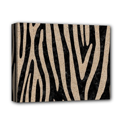 Skin4 Black Marble & Sand Deluxe Canvas 14  X 11  by trendistuff
