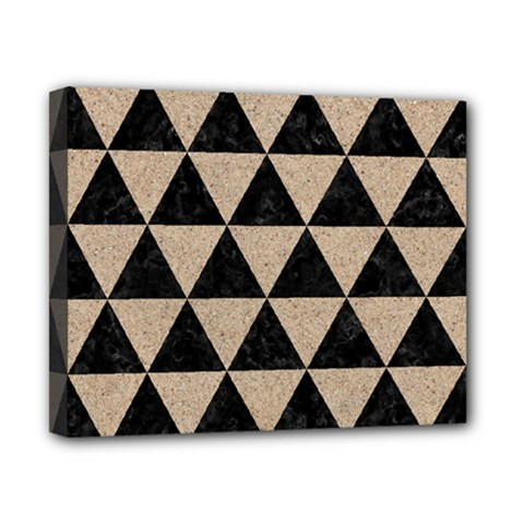 Triangle3 Black Marble & Sand Canvas 10  X 8  by trendistuff