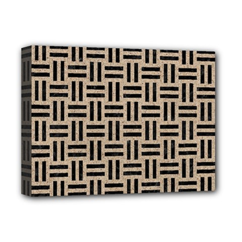 Woven1 Black Marble & Sand Deluxe Canvas 16  X 12   by trendistuff
