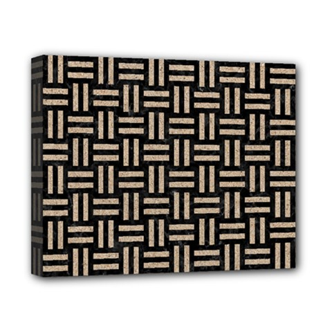 Woven1 Black Marble & Sand (r) Canvas 10  X 8  by trendistuff
