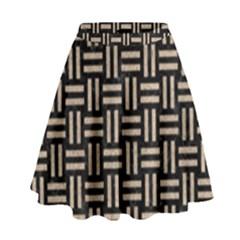 Woven1 Black Marble & Sand (r) High Waist Skirt by trendistuff