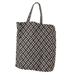 Woven2 Black Marble & Sand (r) Giant Grocery Zipper Tote by trendistuff