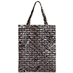 Brick1 Black Marble & Silver Foil Zipper Classic Tote Bag by trendistuff