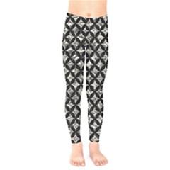 Circles3 Black Marble & Silver Foil Kids  Legging by trendistuff