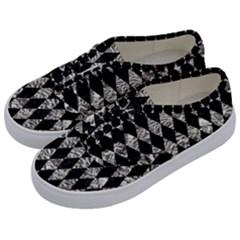 Diamond1 Black Marble & Silver Foil Kids  Classic Low Top Sneakers by trendistuff