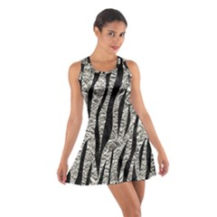 Skin3 Black Marble & Silver Foil Cotton Racerback Dress
