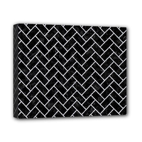 Brick2 Black Marble & Silver Glitter (r) Canvas 10  X 8  by trendistuff