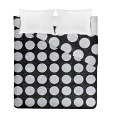Circles1 Black Marble & Silver Glitter (r) Duvet Cover Double Side (full/ Double Size) by trendistuff