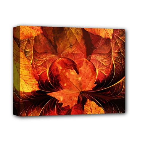 Ablaze With Beautiful Fractal Fall Colors Deluxe Canvas 14  X 11  by jayaprime