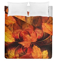 Ablaze With Beautiful Fractal Fall Colors Duvet Cover Double Side (queen Size) by beautifulfractals