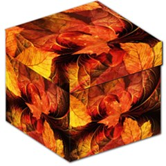 Ablaze With Beautiful Fractal Fall Colors Storage Stool 12   by jayaprime