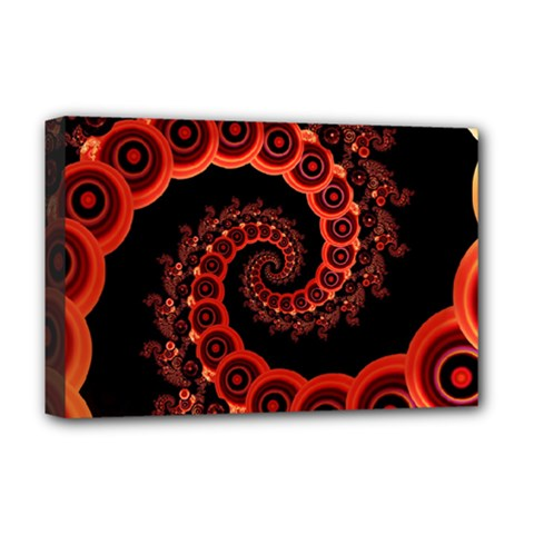Chinese Lantern Festival For A Red Fractal Octopus Deluxe Canvas 18  X 12   by jayaprime