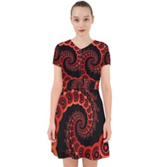 Chinese Lantern Festival For A Red Fractal Octopus Adorable In Chiffon Dress by jayaprime