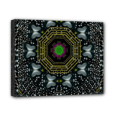 Leaf Earth And Heart Butterflies In The Universe Canvas 10  X 8  by pepitasart
