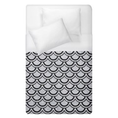 Scales2 Black Marble & Silver Glitter Duvet Cover (single Size) by trendistuff