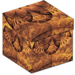 Beautiful Gold And Brown Honeycomb Fractal Beehive Storage Stool 12   by jayaprime