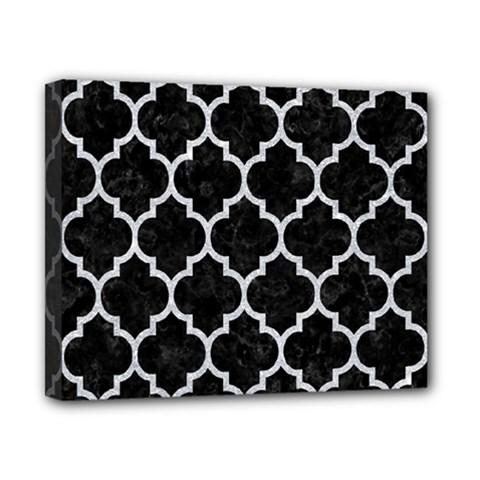 Tile1 Black Marble & Silver Glitter (r) Canvas 10  X 8  by trendistuff