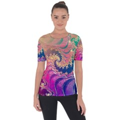 Rainbow Octopus Tentacles In A Fractal Spiral Short Sleeve Top